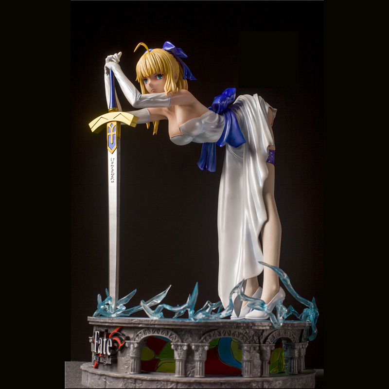 1/4 Scale Saber Base Floor Lamp Fate Stay Night GK Limited Statue Hand Model Size:38cm*26cm*26cm Action & Toy Figures    - AliExpress