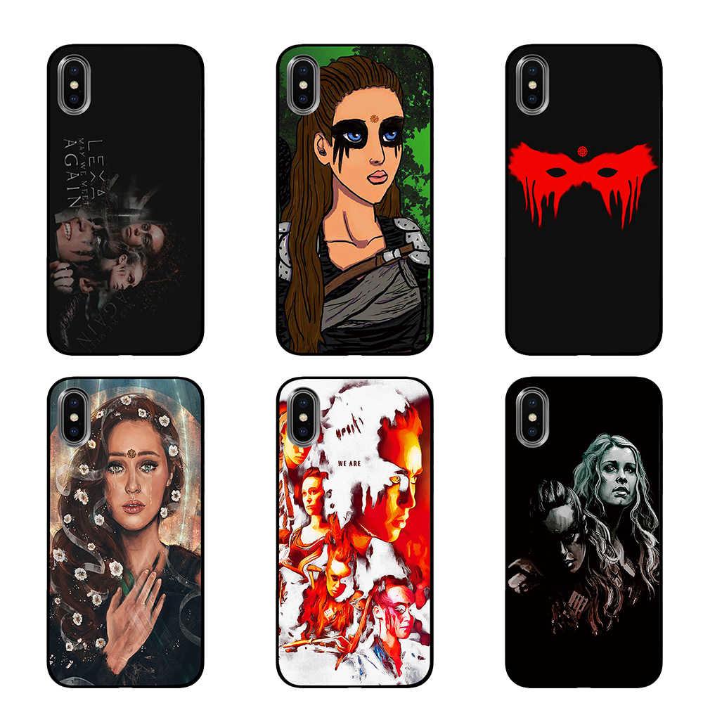100 テレビ番組 Heda Lexa 黒 TPU ケースカバー iphone 5 5S 6 6s 7 8 プラス X XS XR 11 プロマックス