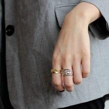 Japão popular 925 prata esterlina irregular fluxo quebrado perdido anel feminino original criativo exagerada abertura índice dedo anel