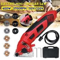 400W Mini Electric Circular Saw Multi function Handheld Electric Saws Woodworking Cutting Machine Cutting Wood Metal Power Tools