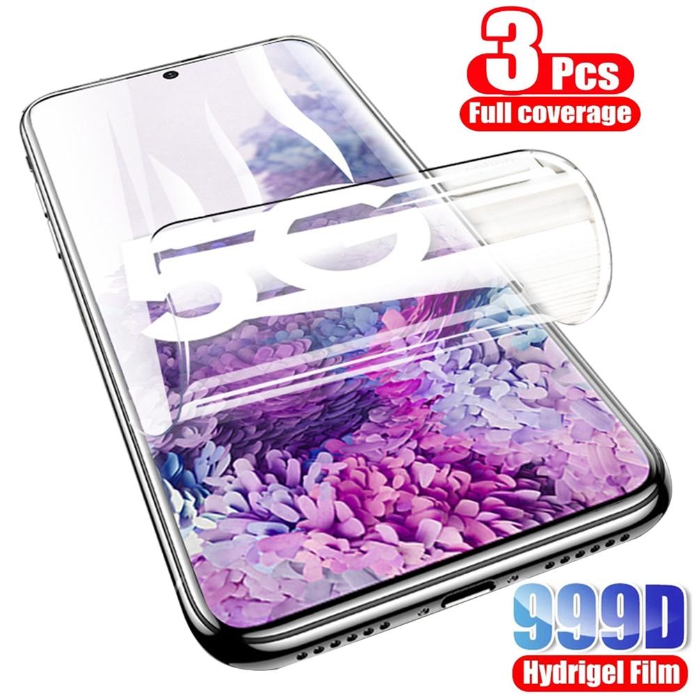 Гидрогелевая пленка 3 шт. для Samsung Galaxy A51 A50 A40 A12 A31 A30s A11 A21s S10 Plus Note 10 lite 20 Ultra S20 FE, Защитная пленка для экрана