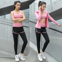 lady clothing women's suit 2019 new three-piece fast-drying exercise running suit mobile phone bag fashion fun run clothing(China)
