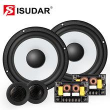 ISUDAR SU601 coche componente sistema de altavoces 6,5 pulgadas 2 puerta del vehículo Audio de coche altavoces estéreo de alta fidelidad con Tweeter Crossover
