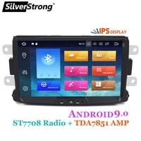 SilverStrong Car Multimedia player Android 9 Automotivo radio For Dacia Sandero Duster Renault Captur Lada Xray 2 Logan