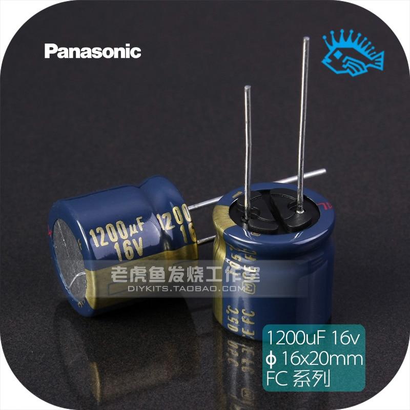 5pcs/50pcs 16V1200uF 16V Panasonic FC Series Brand New Original Fever Audio Gold Electrolytic Capacitor 16x16mm