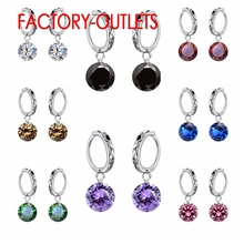 Factory Price Hanging Cubic Zircon Earrings For Women & Young With Green Stone 925 Sterling Silver Earring Amazing Discount