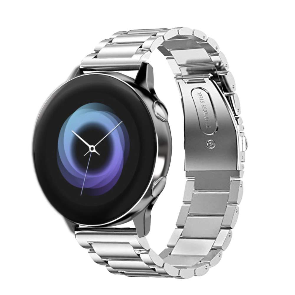Suitable For SAMSUNG S2 San Zhu Watch Band Quick Release Metal Watch Strap 20mm San Zhu Insurance Buckle Metal Steel Belt