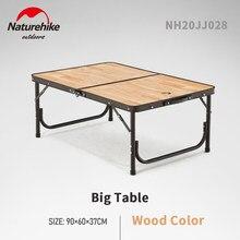 Naturehike Outdoor Folding Camping Tisch Tragbare Verstellbare Höhe Aluminium Legierung Picknick Holz Schreibtisch