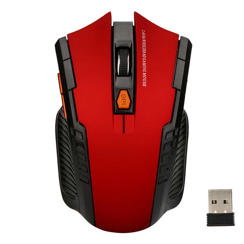 1200 Dpi 2.4 GHZ Wireless Mini Mouse Optik Tikus & USB Receiver untuk PC Laptop Gaming Komputer Desain Ergonomis mouse