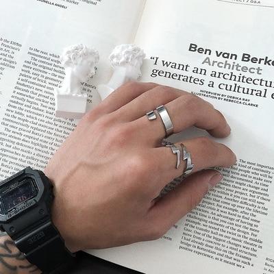 Корейский стиль массивное кольцо с молнией для влюбленных для мужчин и женщин элегантные ювелирные изделия подарок на день Святого Валенти...