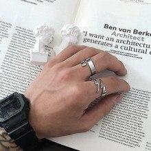 Estilo coreano amante enorme relâmpago anel para homem mulher elegante jóias dia dos namorados presente de casamento de aço inoxidável anel osr228