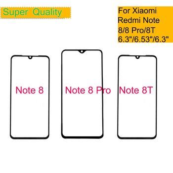 10Pcs/lot For Xiaomi Redmi Note 8 Pro Touch Screen Panel Front Outer Glass Lens For REDMI NOTE 8T LCD Front Glass Panel
