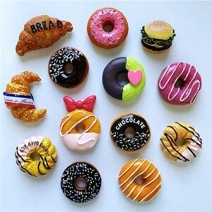 Новый шоколад клубника пончик, Хлеб Гамбургер 3D магниты на холодильник туризма Сувениры холодильник магнитных наклеек в подарок