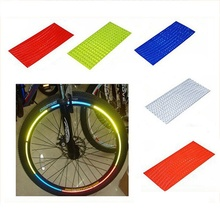 Bicycle reflector Fluorescent MTB Bike Bicycle Sticker Cycling Wheel Rim Reflective Stickers Decal Accessories 12 pcs bicycle wheel reflective spokes stickers rim steel wire safe accessories green