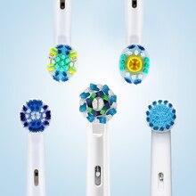 חשמלי מברשת שיניים אוראלי B חלקי חילוף מבוגרים מברשת שיניים קבצים מצורפים צלב פעולה להחלפה מברשת ראש 8 יח\אריזה