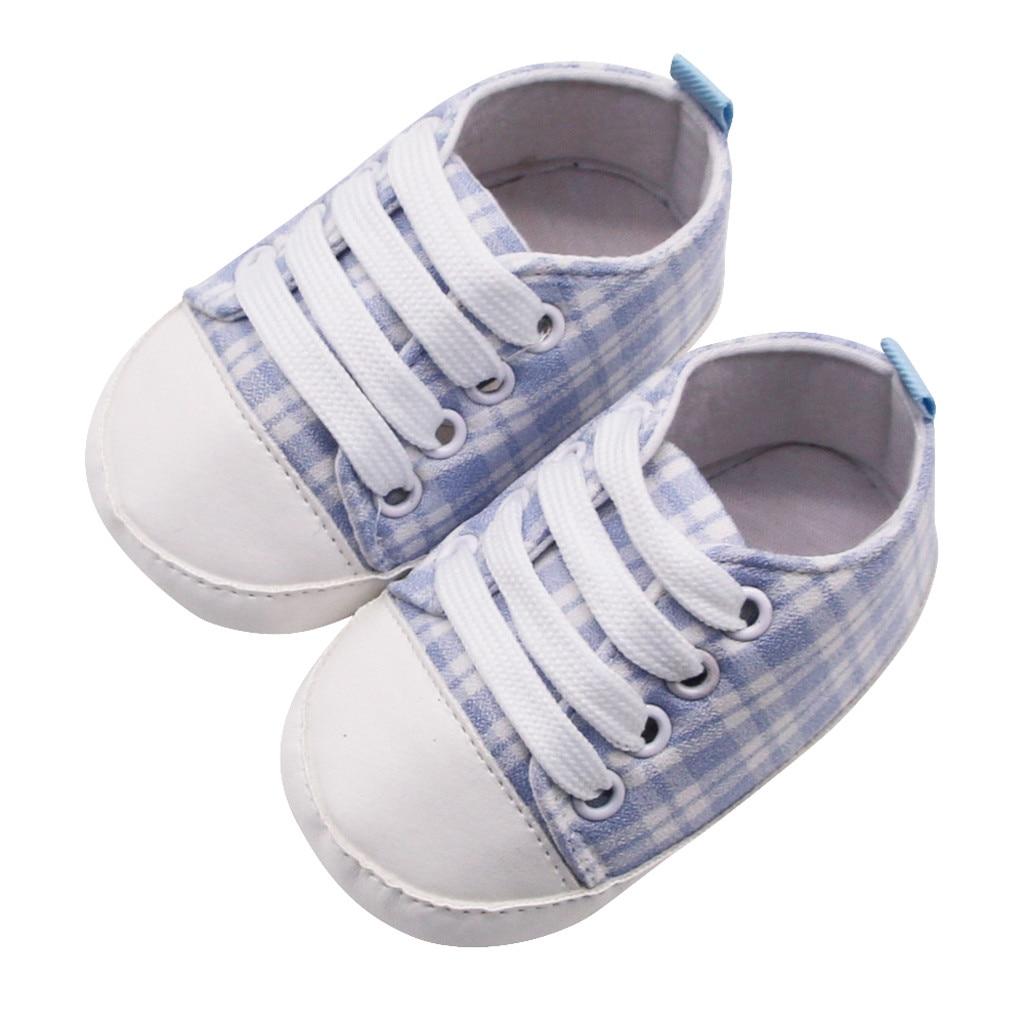 Toddler Kids Baby Girl Boy Crib Shoes Anti-slip Sneakers Soft Sole Prewalker Hoc