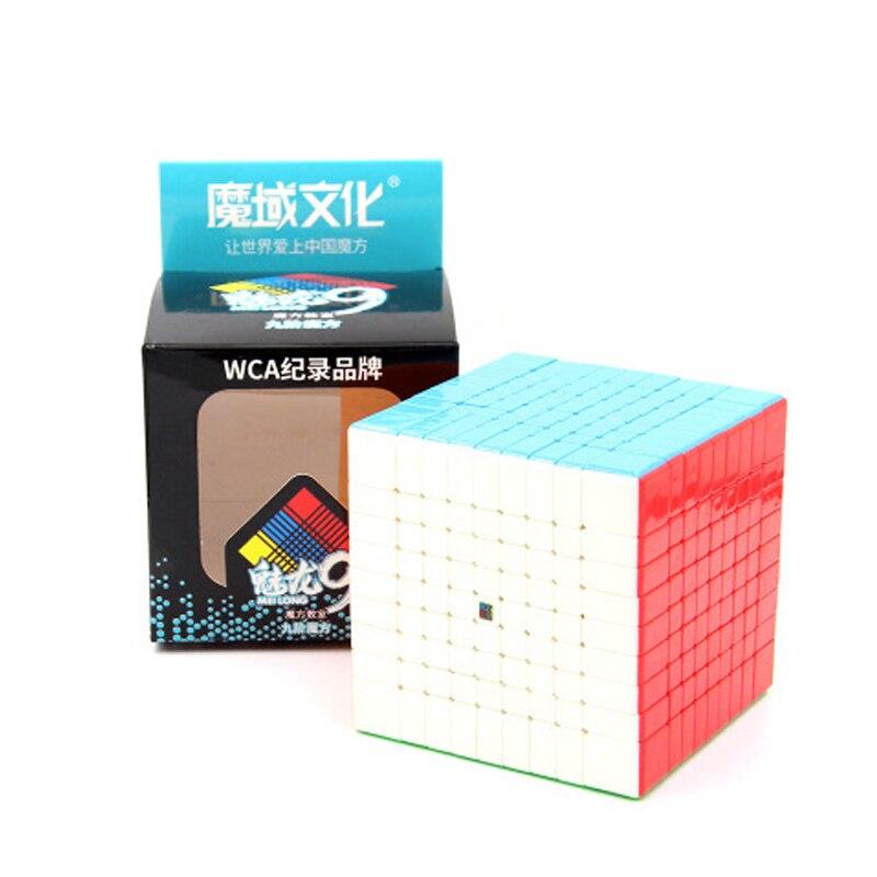 velocidade cubo quebra-cabeça 9x9x9 preto stickerless neo