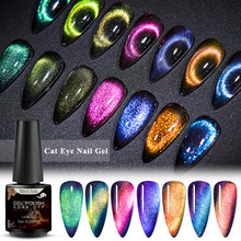 T-TIAO CLUB 9D Chameleon Cat Eye Nail Gel Galaxy Magnetic Soak Off UV/LED Nail Varnish Semi Permanent Manicure Gel Lacquer 7ml(China)