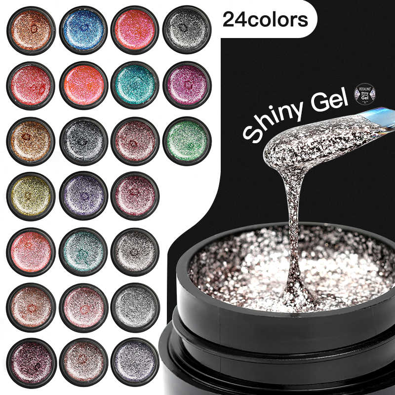 ROSALIND Gel Vernis À Ongles Ensemble Brillant Platine L'art Des Ongles Pour Manucure Poly Gel Lak UV Couleurs Top Base Coat Apprêt Hybride Vernis