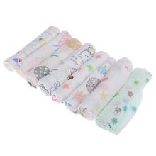 1 шт. Детский носовой Платок Квадратный фруктовый мультяшный узор полотенце 30*30 двухслойный моющийся муслиновый хлопок детское полотенце для лица протирать ткань