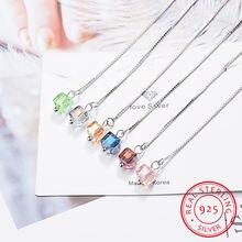 Серьги подвески женские длинные из серебра пробы с кристаллами