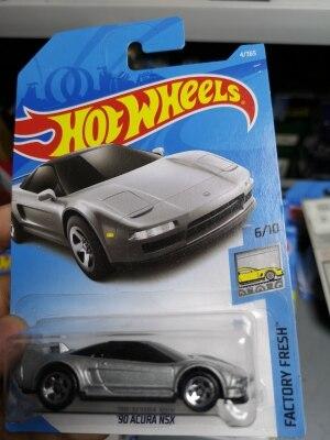 Coches de juguete de aleación de Metal fundido a presión para niños, vehículo de juguete de aleación plateada H W 1:64 90 Ac ura NSX