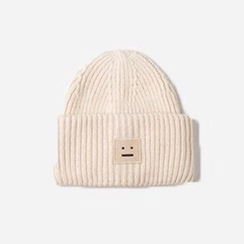 2020 New Acne unisex women's autumn and winter hats Angora100% double layer warm hat Skulies wool hat Warm knitted hat 12