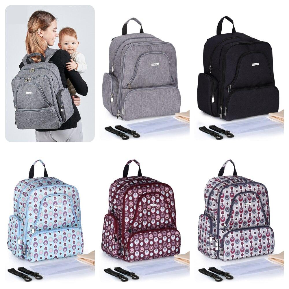 Nappy Diaper Bag Large Capacity Baby Bag Travel Backpack Waterproof Travel Maternity Zipper Bag Nursing Backpack Baby Care