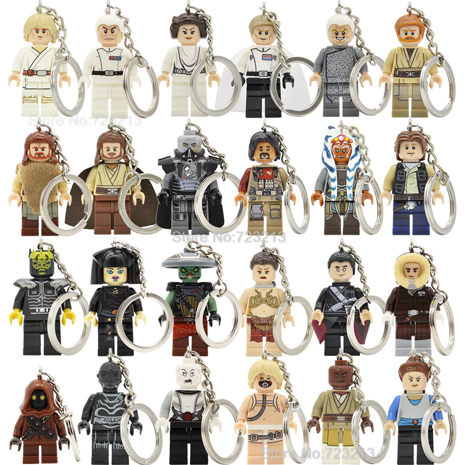 Starwars Luke Figure Keychain Yularen Jawa Padme Sith Lords Unduli Ventress Padme Naberrie Mace Building Blocks Toys Legoing