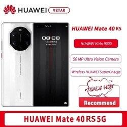 SmartPhone d'origine HUAWEI Mate 40 RS 5G 6.76 pouces 88 ° écran incurvé 5 nm Kirin 9000 Octa Core 65W SuperCharge téléphone NFC