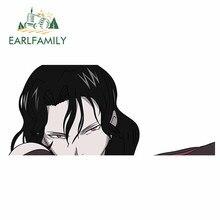 EARLFAMILY – autocollants et décalcomanies de voiture en métal, 13cm x 5.5cm, sparadrap de personnalité, Anime, JDM, décoration de porte, fenêtre étanche