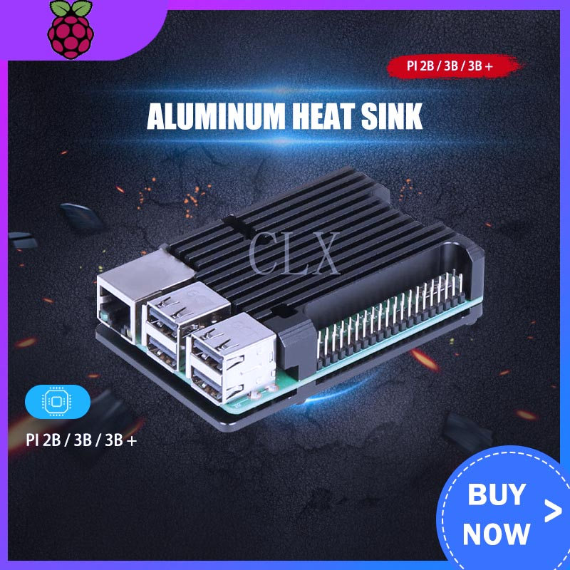 Raspberry Pi Shell Box Raspberry Pi General Aluminum Alloy Heat Dissipation Shell For Raspberry Pi 2B/3B/3B+