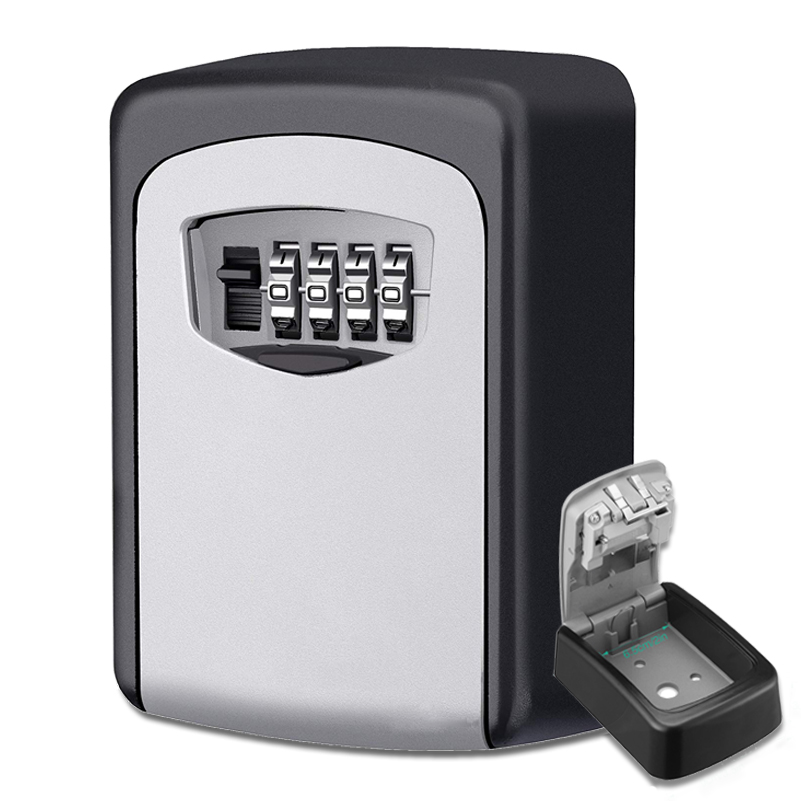 Keybox Lock Key Safe Box Outdoor Wall Mount Combination Password Lock Hidden Keys Storage Box Security Safes For Home Office