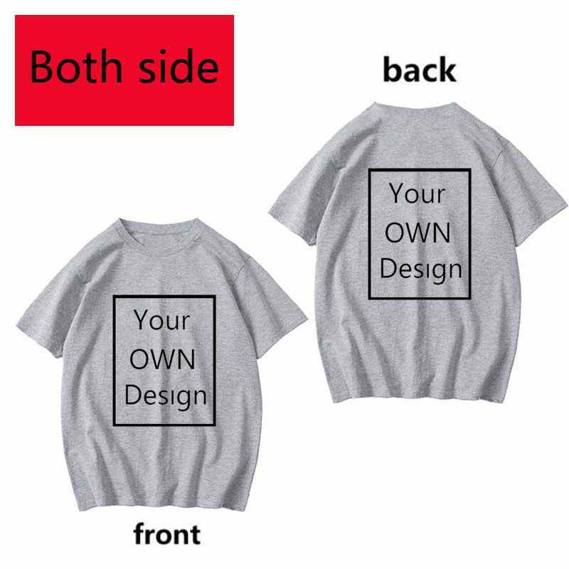 양면 로고/그림에 대 한 자신의 디자인 사용자 지정 Tshirt 남자와 여자 DIY 코 튼 T 셔츠 반팔 캐주얼 T-셔츠 36 색