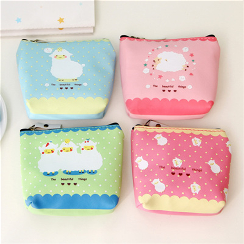 DL YL05 Sheep Year's New Korean Student Lady Small Sheep Short Purse Mini Zipper Zero Wallet Card Coin Exquisite Office Supplies