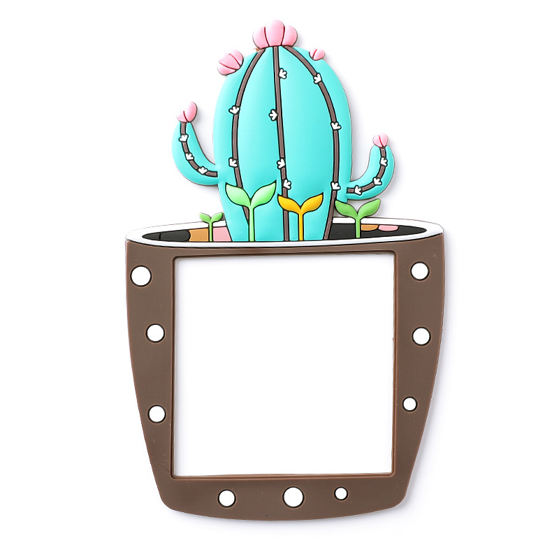 Cartoon Luminous Switch Sticker 3D Cactus Fluorescent Wall Stickers On-off Switch Stickers Living Room Kids Room Switch Cover