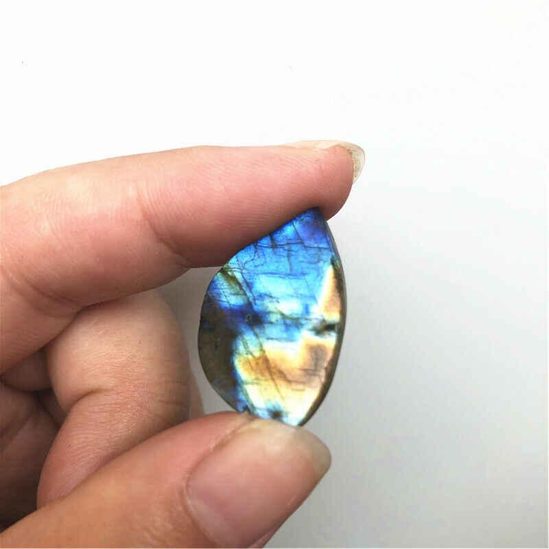 10pcs חדש טבעי כחול זהב ברדוריט Slice תליוני מעורב עלה צורת DIY תכשיטי ביצוע טבעי קוורץ גבישים