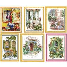 Набор для вышивки крестиком картины в виде цветов сада печать
