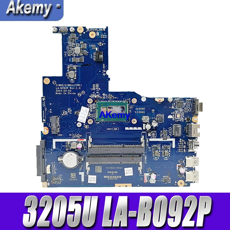 ZIWB2/ZIWB3/ZIWE1 LA B092P Rev:3.0 motherboard For Lenovo B50 80 Laptop motherboard ( For intel 3205U CPU ) 100% tested|Motherboards| |  - title=