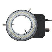 Промышленный микроскоп, светильник для камеры, источник 48 Светодиодный кольцевой светильник, регулируемая яркость, USB интерфейс