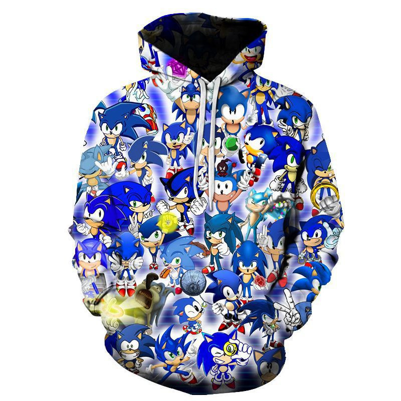 Hot Sale Sonic The Hedgehog 3D Print Hoodies Sweatshirt In Children Autumn Warm Casual Harajuku High Quality Plus Size 3D Hoodie
