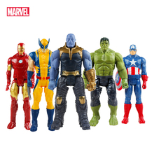 30CM Marvel Avenger figurka Toy Super Hero Model Doll Spiderman Wolverine Thor kapitan ameryka Iron Man Model Toy prezent tanie tanio Disney Puppets Unisex Other about 30 cm Second edition 3 lat Wyroby gotowe Marvel Avengers Toy Zachodnia animiation Zapas rzeczy