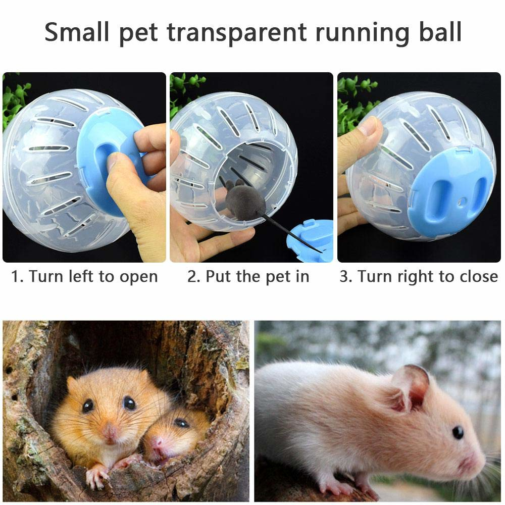 Pet Running Ball Plastic Grounder Jogging Hamster Pet Small Exercise Toy Hamster Accessories