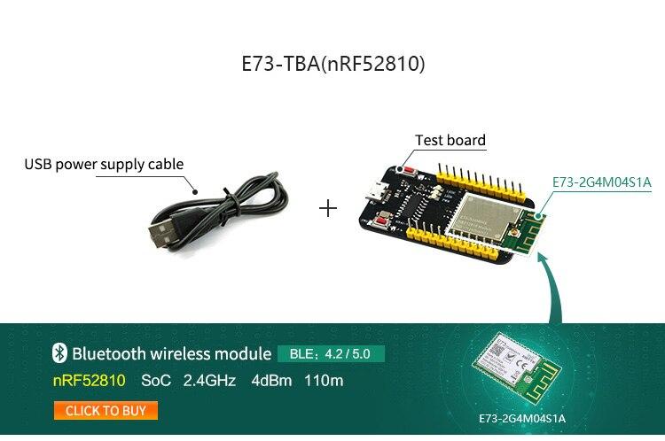 E73-TBA Test Board For nRF52810 Bluetooth 5.0 Module 2.4GHz Transmitter Receiver