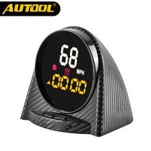 AUTOOL X70 wyświetlacz GPS Head up HUD miernik prędkościomierza wysokość czas kompas cyfrowy Alarm prędkości KMH PMH dla wszystkich pojazdów