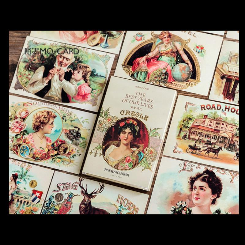 30PCS/LOT Retro Dasy Creative Cards Pack 143mm*90mm DIY Post Card Message Bookmark Gift
