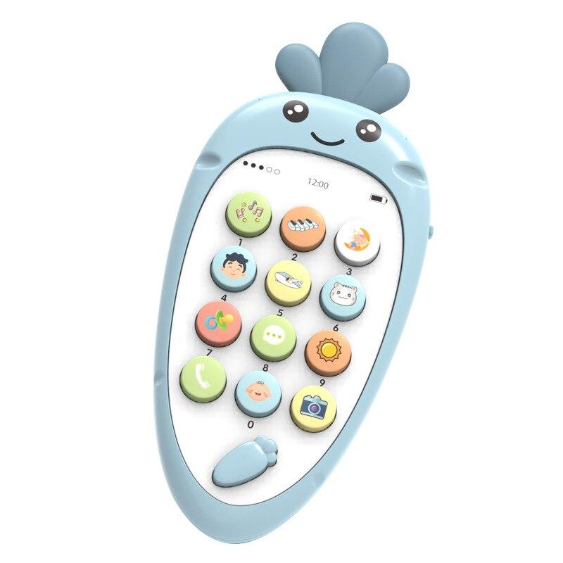 Baby Electronic Toys Vocal Toys Cartoon Radish Baby Telephone Story Music Toy Phone