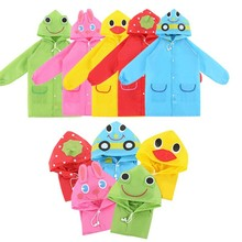 Kids Raincoat Poncho Waterproof Children Girls Outdoor Cartoon Boys for Cute Student