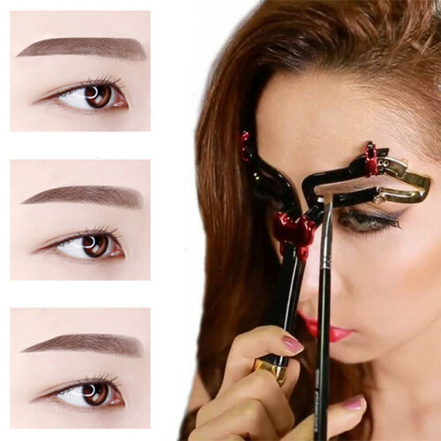 3 In 1 Eyebrow Shapes Stencil Adjustable Portable Eyebrow Makeup Model Template Tool 2019 Durable Women Eyebrow Stencil Shaper