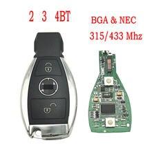 Datong coche del mundo de llave de control remoto para Mercedes Benz W203 W204 W205 W210 W211 W212 W221 W222 A B C E S clase BGA y NEC 315/433Mhz tarjeta